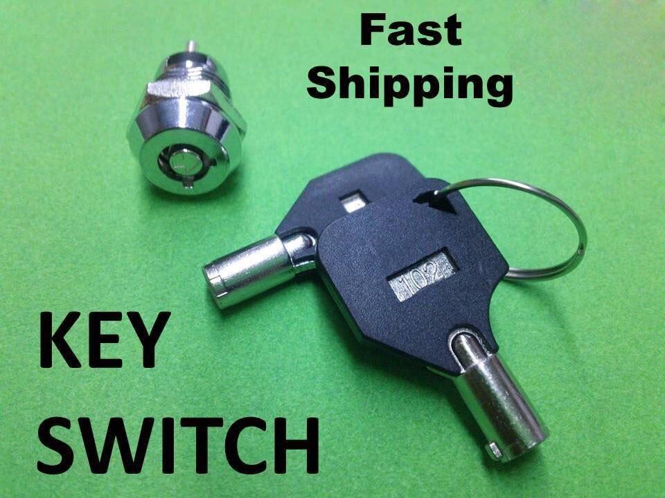 50 قطعة البسيطة مفتاح الإشعال ON/OFF قفل التبديل مفتاح قبالة خارج 12 مللي متر