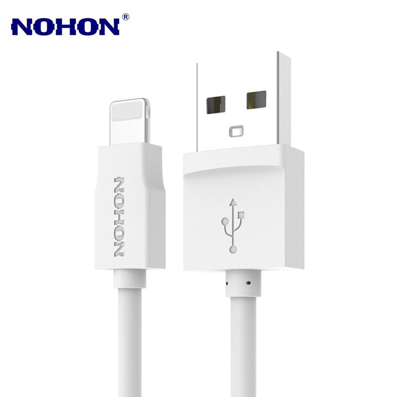 NOHON 150cm USB Cable cargador de sincronización de datos para iPhone 5 y 5s 5C 6 6S 7 7 Plus X XS X Max XR iPad 4 mini 2 3 2 Pro Cable De Carga Rápida
