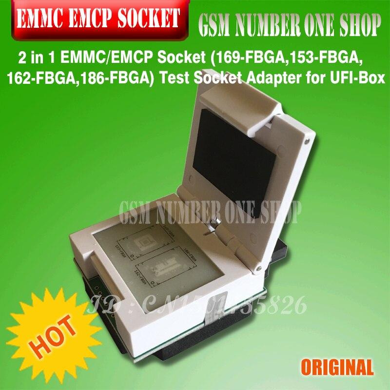 مقبس EMMC/EMCP, مقبس جديد أصلي 2 في 1 مقبس EMMC / EMCP (169-FBGA ، 153-FBGA ، 162-FBGA ، 186-FBGA) اختبار محول المقبس لـ UFI-Box