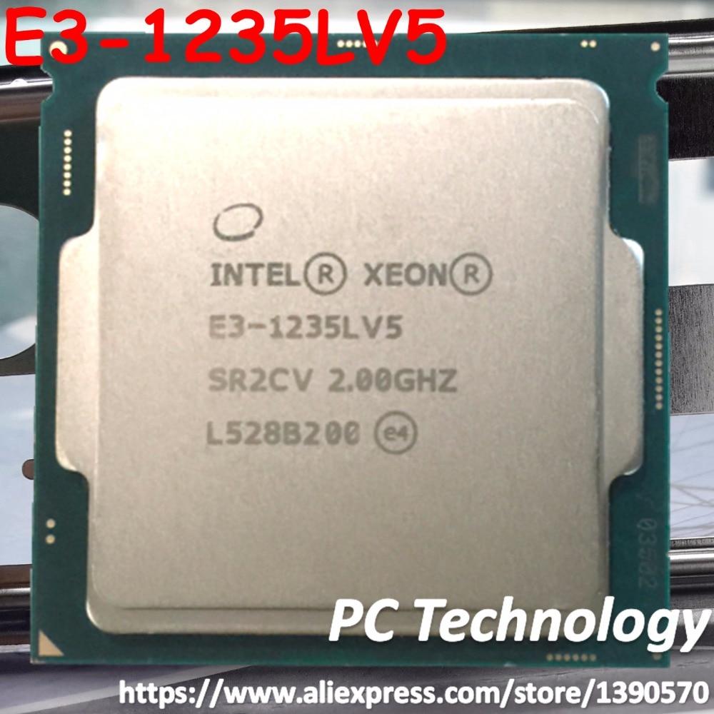 E3-1235LV5 Original Intel Xeon SR2CV E3 1235L V5 CPU 2.0GHZ Quad-Core 8MB 25W E3-1235L V5 LGA1151 free shipping E3 1235LV5