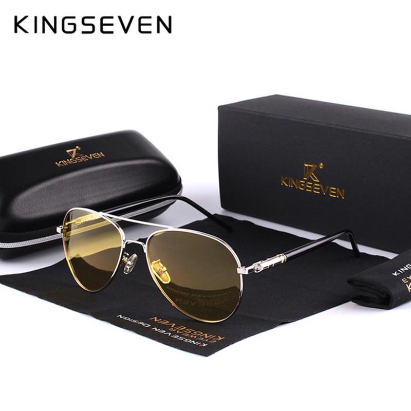 Мужские поляризованные солнцезащитные очки, брендовые дизайнерские очки с желтыми линзами для ночного видения, 2018