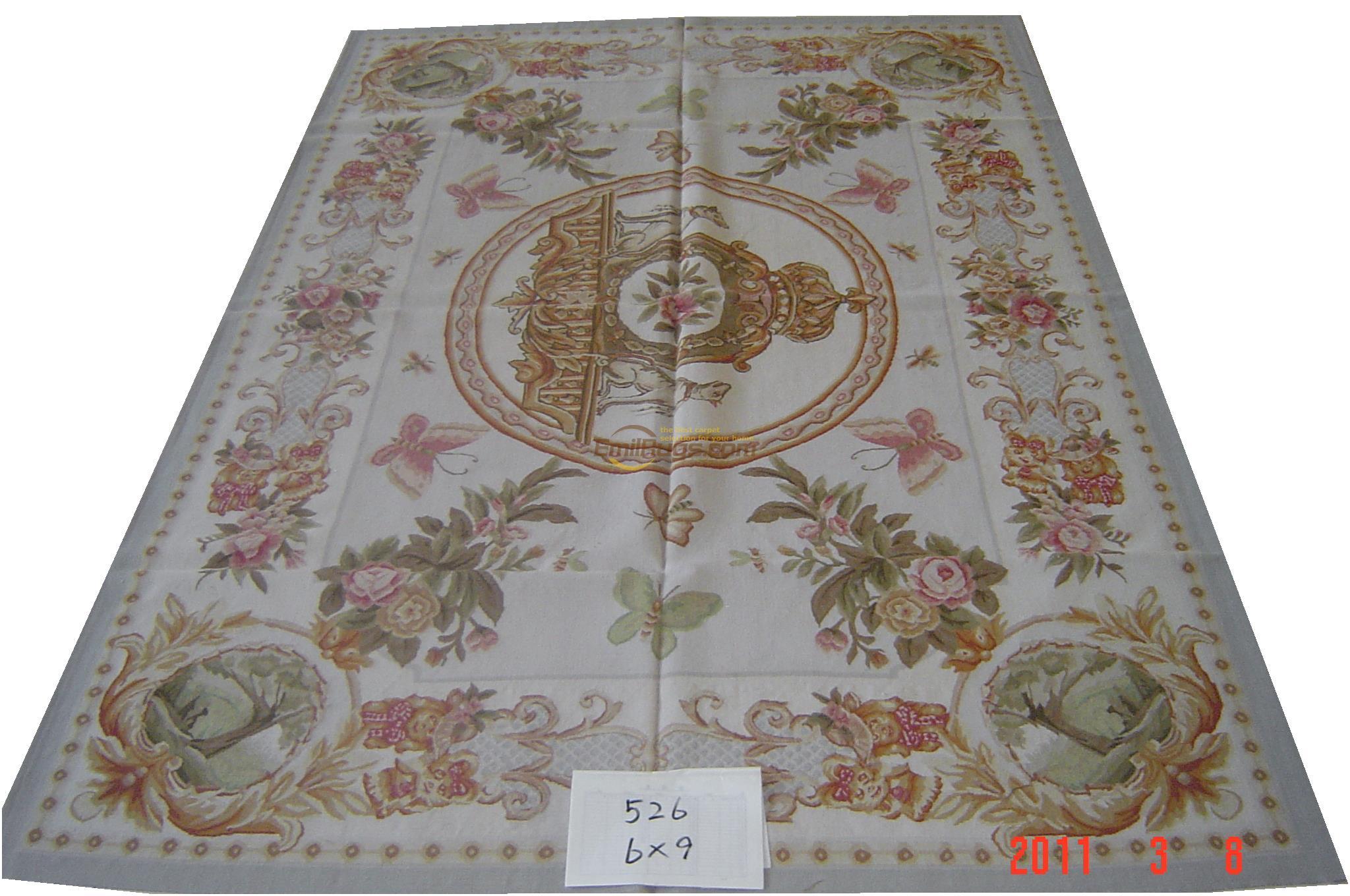 Alfombras de lana tejidas a mano para sala de estar, alfombra cuadrada, alfombra Aubusson, alfombras tejidas de lana