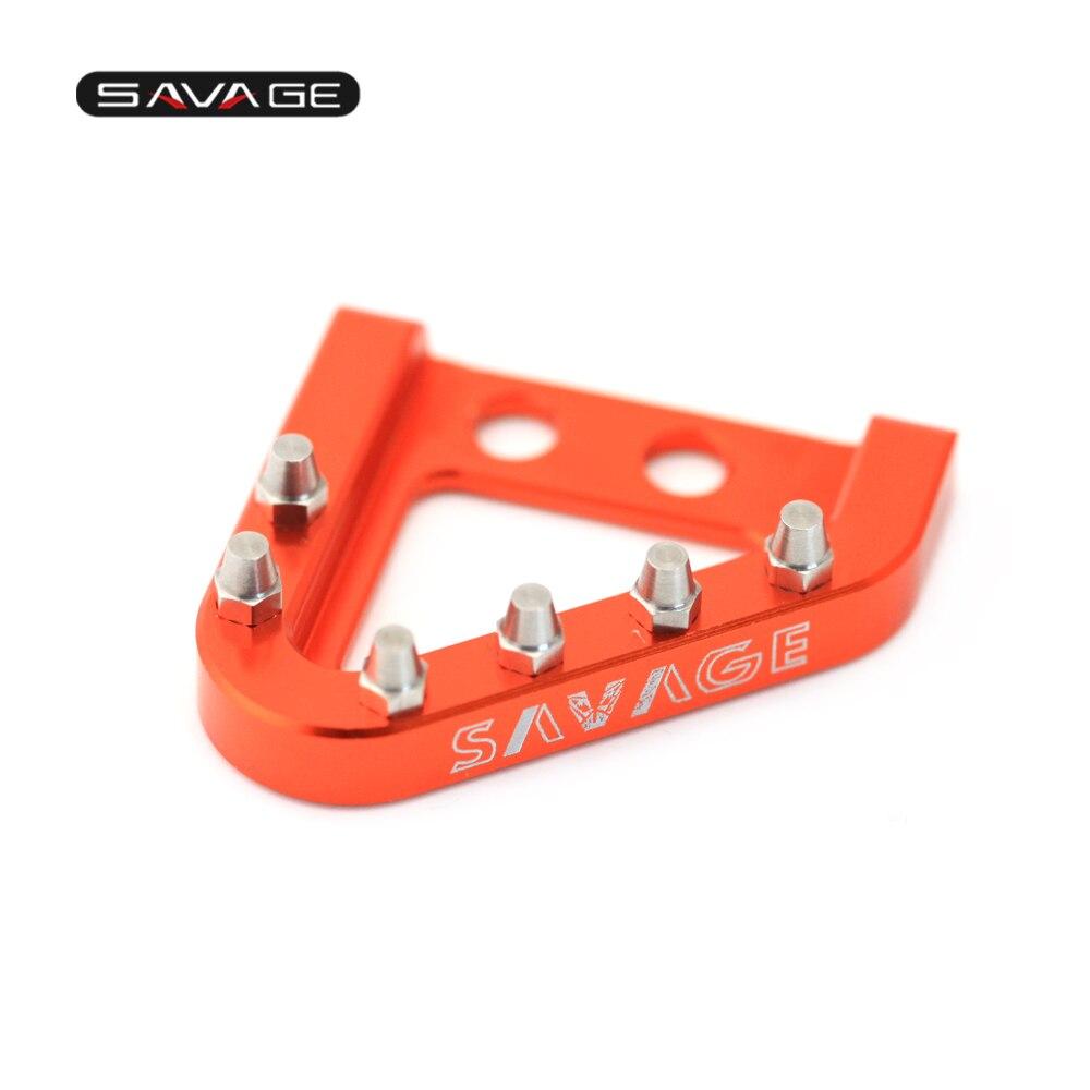 Tacos de pedales de freno trasero para KTM SX SXS 65 85 105 125 144 150 250 450 505 525 540 motocicleta CNC aluminio