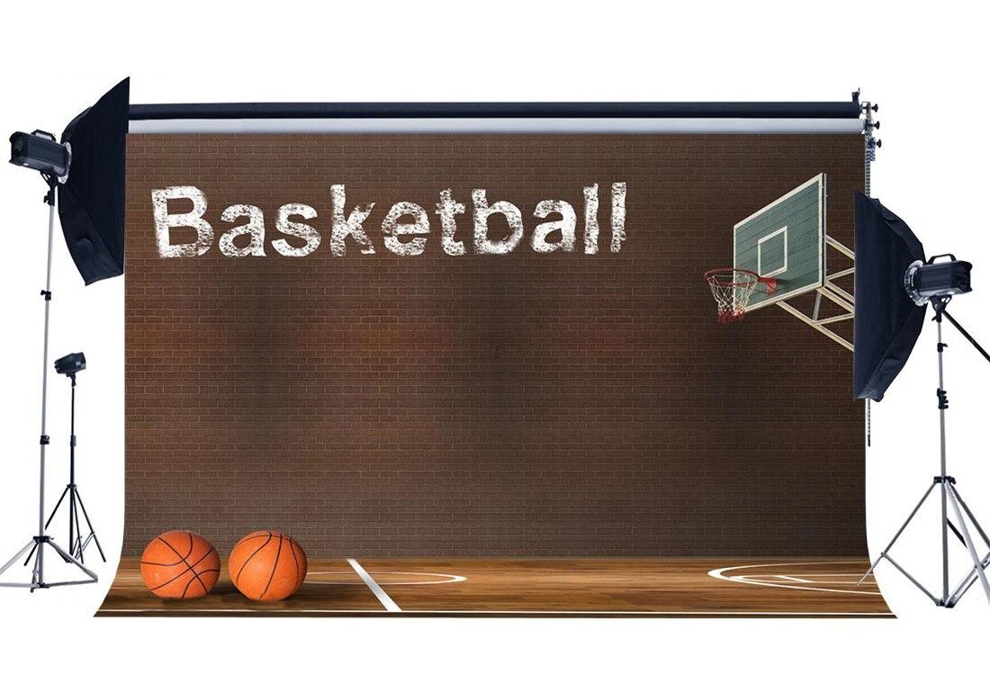 Fondo de cancha de baloncesto NBA partido Backdrops Grunge ladrillo papel pintado Interior estadio de fondo