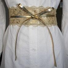 Cinturón de encaje elástico para mujer, cinturón de tela vaquera de diseño de marca de lujo, para vestido de boda, color negro