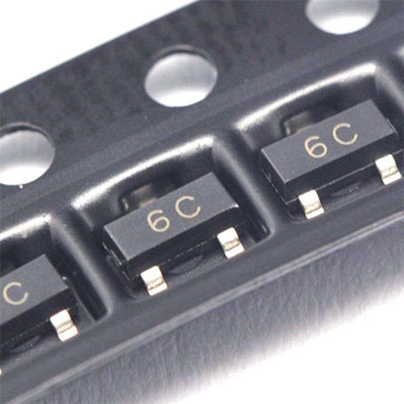 3000 قطع BC817 BC817-40 6C SOT-23 0.1a 45 فولت npn الترانزستور