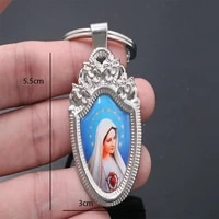 st jesus icon custom key chain michael angel blue mary jesus merciful virgin guadalupe and other key chain image