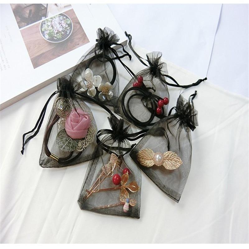 10 Uds bolsa de organza para boda Candy diseño especial almacenamiento joyería teléfono belleza chica mujer regalo paquete 7x9cm 9x12cm 10x15cm 13x18cm