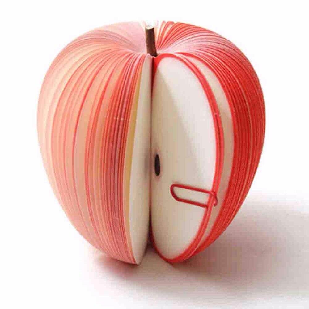 5 Pçs/lote Fruto Bonito-Em Forma de Memorando Almofada de Nota Pegajosa, apple & pear & & melancia morango & pêssego, BQB00015