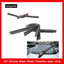 "1Pc Black 26"" Silicone Wiper Blade Frameless Car boneless wiper strip for Car Bus Windshield"