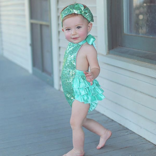 girls bubble sequin romper headband Mermaid Sequin baby romper glitter ruffle sunsuit,Photo Prop,Mermaid swim suit