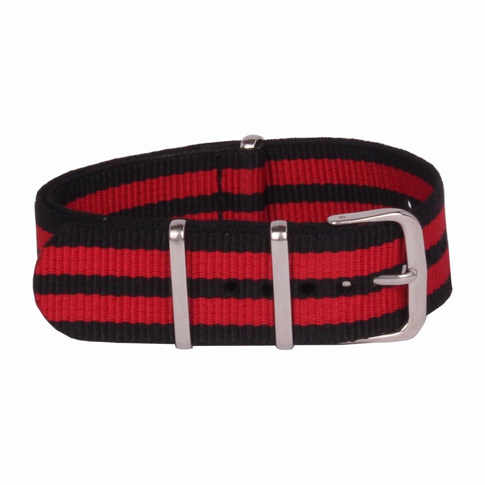 Venta al por mayor 18mm Multi Color negro rojo ejército deportes nato tela Nylon Correa accesorios bandas hebilla cinturón 18mm para ver