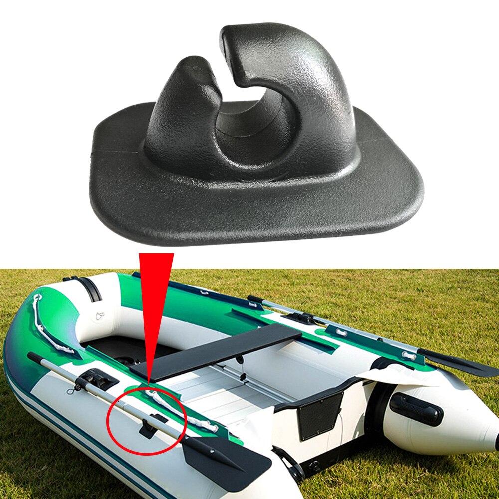 Bote inflable de 2 uds., soporte para remo y poste de remos, Parche de montaje en PVC, bote, Kayak, canoa Rafting, hebilla redonda de cuerda de un solo agujero