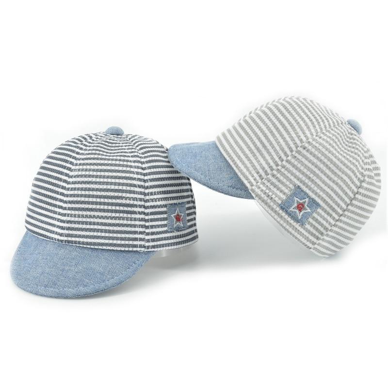 HPBBKD algodón niños sombreros de bebé bonitos Casual rayas suaves aleros niños bebé de gorra de beisbol niños niñas Sun Protect Hat gorras XH-031
