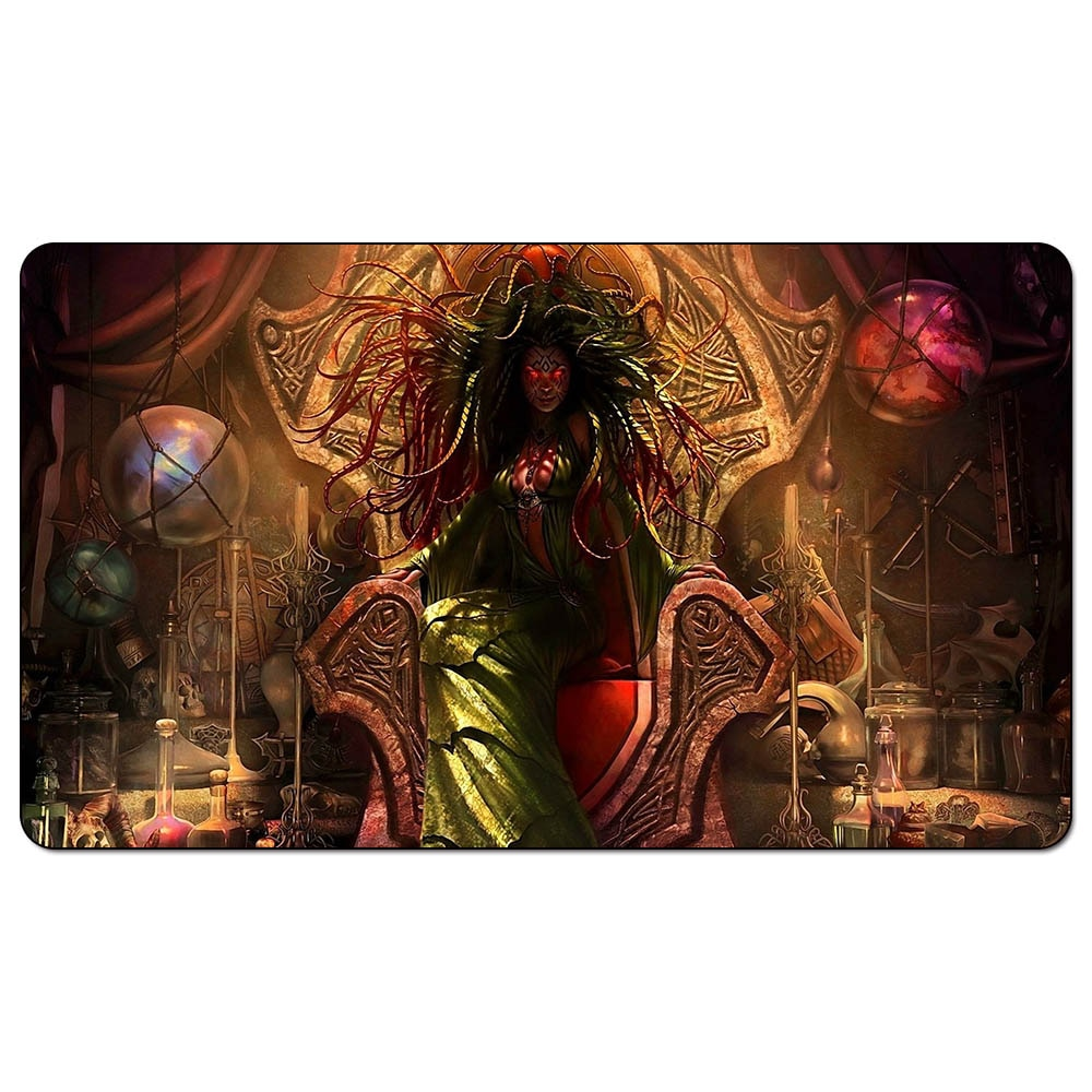 EDH Damia, salvia de piedra de 60x35cm, tapete para Magic EDH Damia, tapete para Magic de salvia de piedra para tablero, almohadilla de juego de mesa