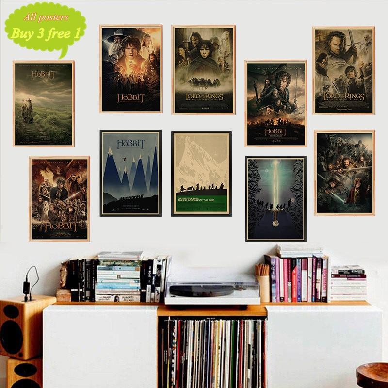 Película The Hobbit Vintage Posters pegatina de pared para el hogar Bar Sala decoración kraft póster de papel