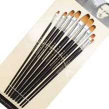Ensemble de 9 pinceaux à Long manche pour peinture à lhuile, acrylique, Gouache et aquarelle