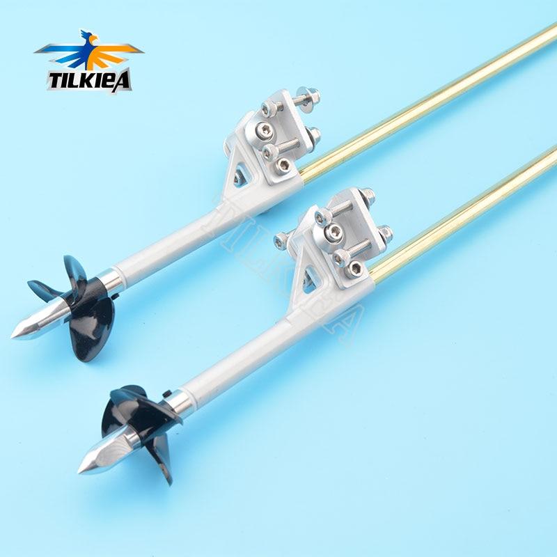 Eje de Cable flexible todo en uno de 4mm, tracción izquierda/derecha, tuerca de soporte para perro, junta de plástico, tubo de latón y soporte de Stinger Drive para barco Rc