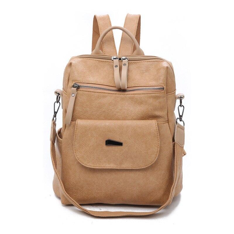 Backpack Women Pu Leather Female Backpacks Teenager School Bags Mochila Feminina Rucksack Mochilas Mujer 2020