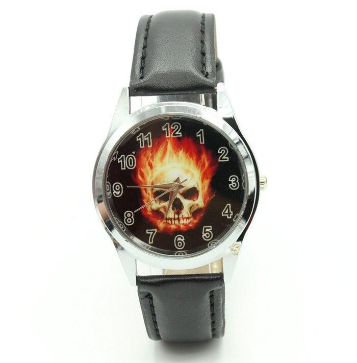 Reloj de pulsera con calavera a la moda de superhéroe fantasma de Marvel para niño
