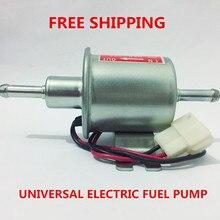 Pompe à carburant électrique universel 12v   Essence diesel universelle, moteur électrique, basse pression, pour la plupart voitures, carburateur, moto ATV