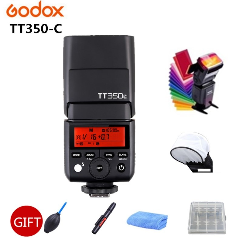 Godox البسيطة TT350 فلاش TT350C 2.4G TTL GN36 HSS فلاش كاميرا Speedlight X1T الزناد لكانون 7D 810D 200D 800D 700D 70D 60D