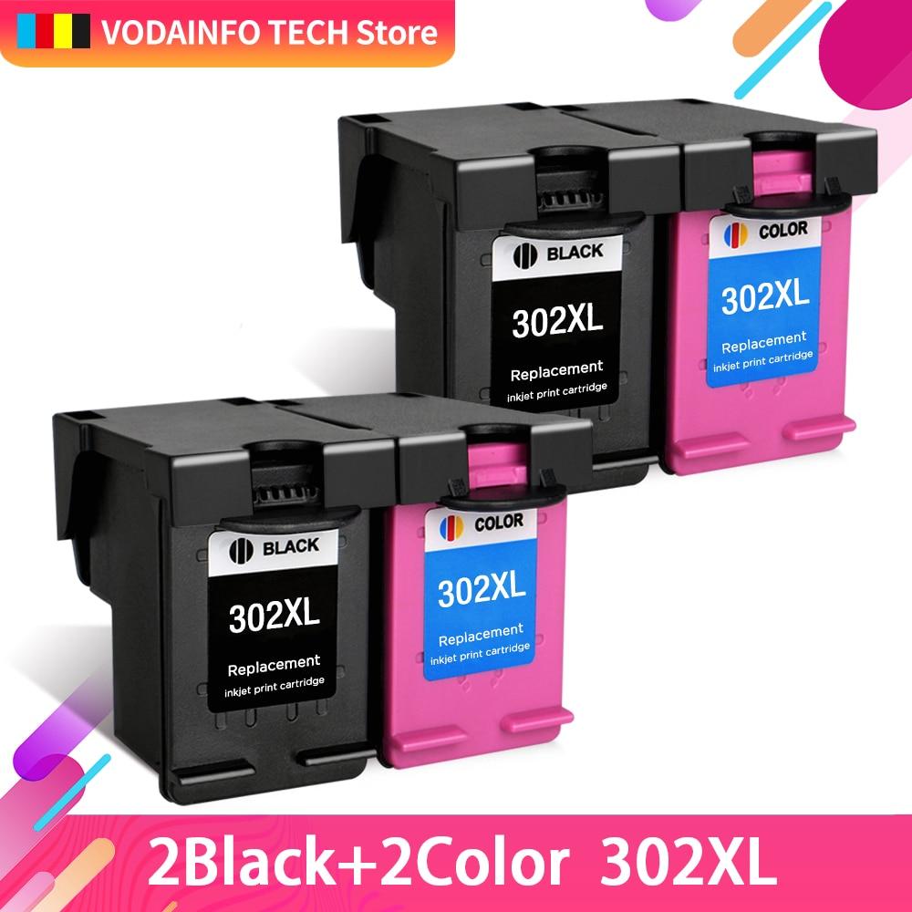 QSYRAINBOW  Ink Cartridges Cartridge Remanufactured For HP 302 XL HP302 HP302XL 302XL Envy 4520 4522 4523 4524 Inkjet Printer