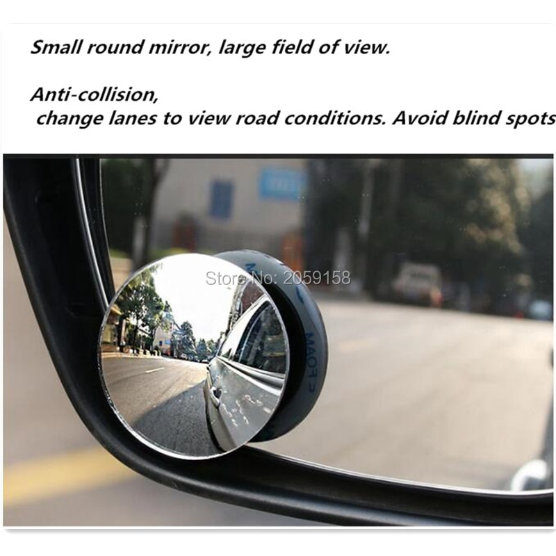 Car 360 Wide Angle Round Convex Mirror for lada granta kalina vesta priora largus 2110 niva 2107 2106 2109 vaz samara
