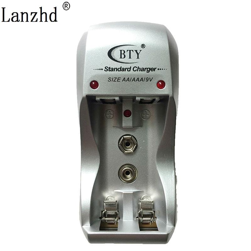 Cargador de batería de gran velocidad, carga para 9V AA AAA 2 baterías DC 1,2 V, puerto USB, enchufe de EE. UU. EU chargeur (no incluye batería)
