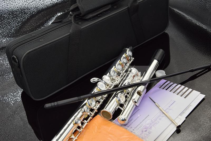 Top Japan Flute 16 Hole with E Key  YF-271 Silver Plated Flute C Key White Copper Flauta Transversal Music Instrumentos