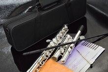 Top Japan flet 16 otwór z kluczem E YF-271 posrebrzany flet C klucz biały miedź Flauta poprzeczna muzyka Instrumentos