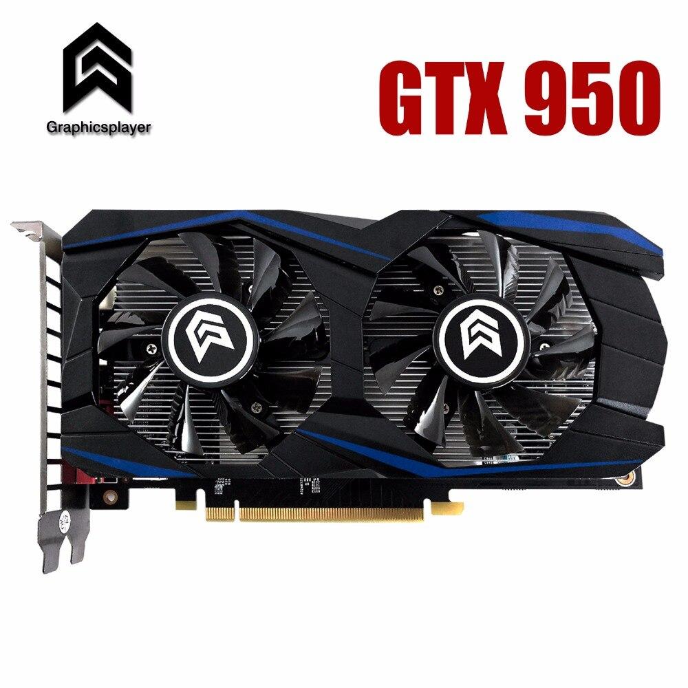 Tarjeta gráfica PCI-E GTX950 GPU 2G DDR5 para nVIDIA Geforce Game PC