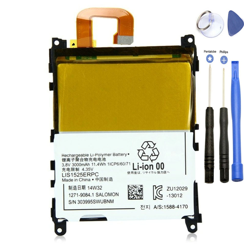 Batterie de remplacement ISUNOO LIS1525ERPC 3.8 V 3000 mAh pour Sony Xperia Z1 L39H C6902 C6903 batterie Rechargeable avec outils de réparation
