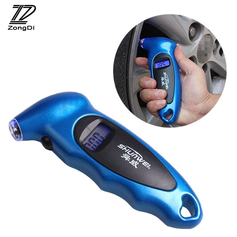 Indicador de presión Digital para neumáticos de coche ZD 1X pantalla de alta precisión para VW polo passat Toyota corolla yaris Peugeot 307 407 Accesorios