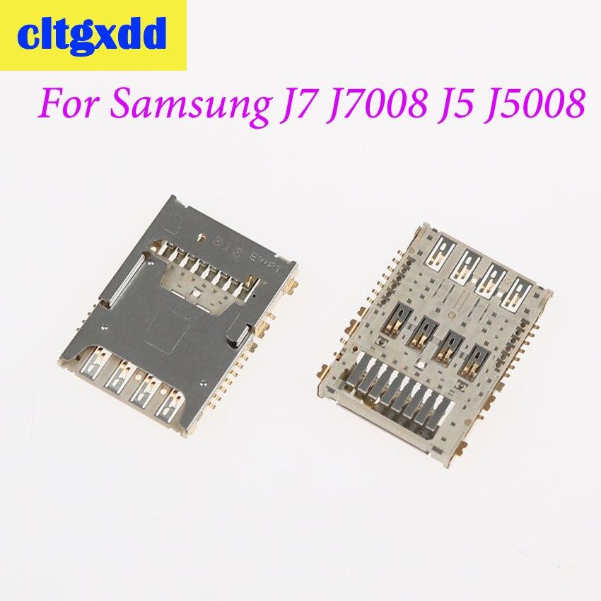 Cltgxdd Para Samsung Galaxy J1 J100H/F J5 J5008 J500F J7 J700 J700F J7008 SIM Tray Slot para Cartão de Memória titular Soquete do Conector
