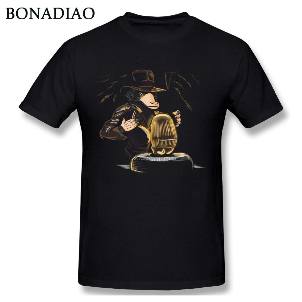 Camiseta de cuello redondo de Niffler indio para hombre, camiseta personalizada con imagen de niño, camiseta de gran tamaño con cuello redondo