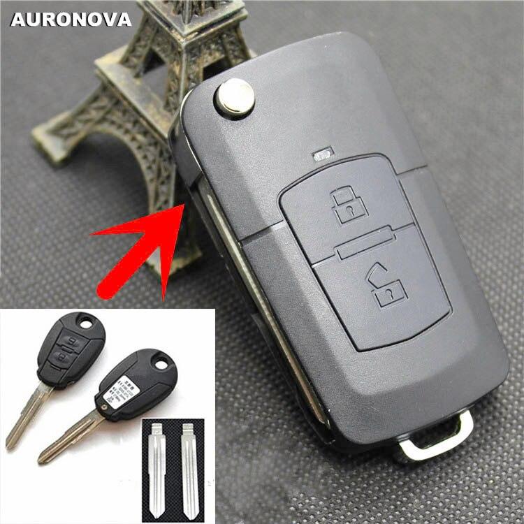 AURONOVA nueva actualización carcasa de llave abatible plegable para JAC refinar 2 botones reemplazar la funda para mando a distancia del coche