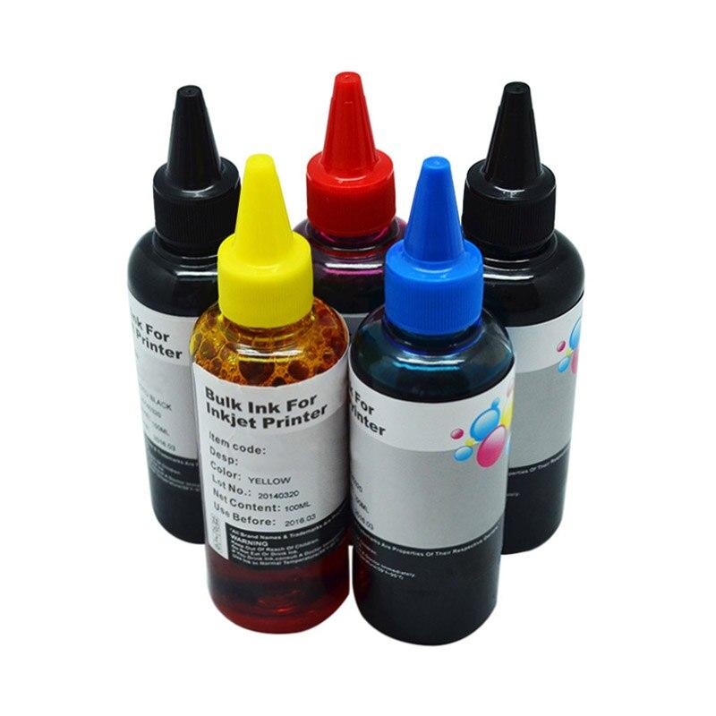 5x100ml para cartuchos de tinta recargables CANON PGI150 250 450 550 750 850 conjuntos de recarga de tinta a granel CISS tinta para todas las impresoras Canon