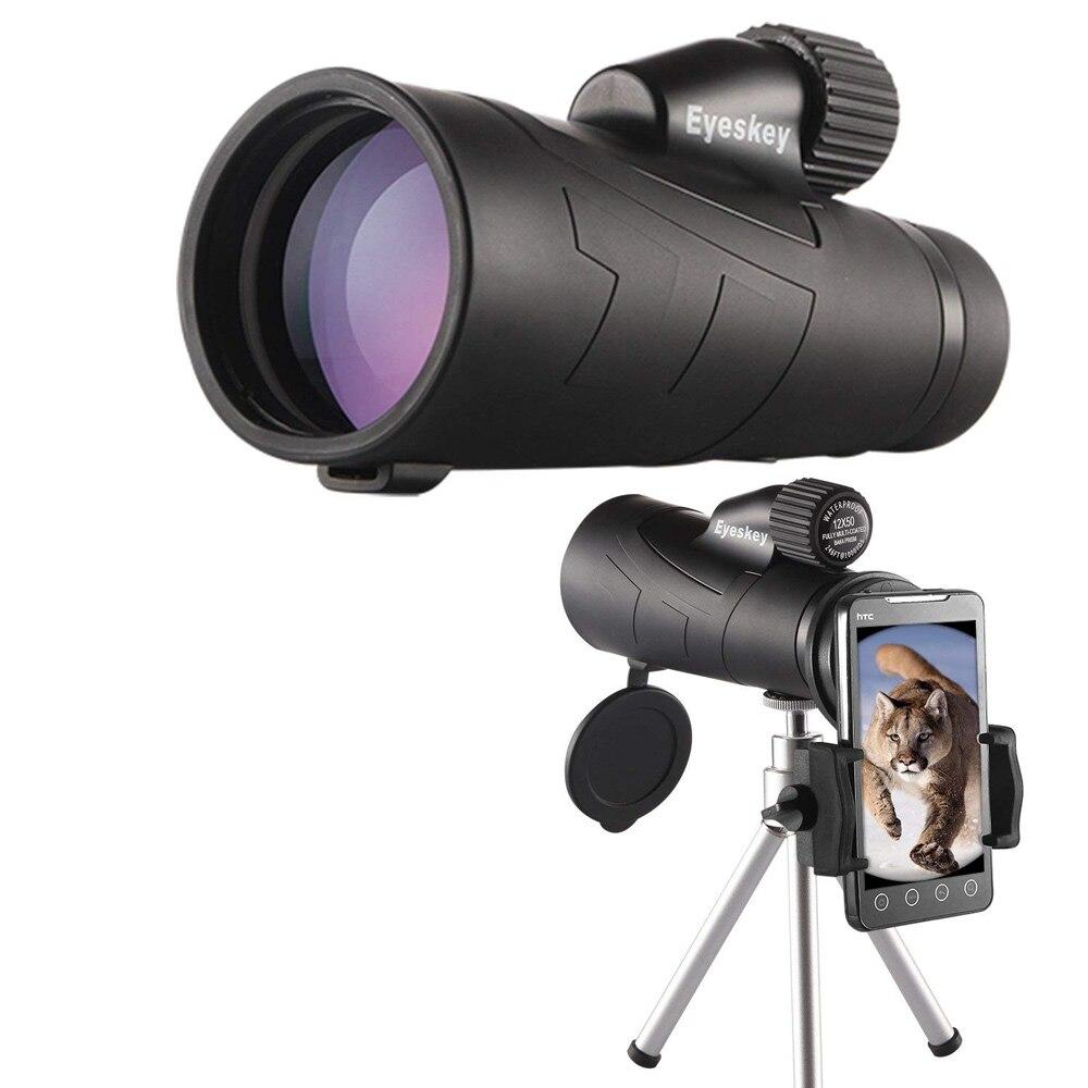 12x50 Monokulare Eyeskey Optik Wasserdichte Fernrohr Qualität für Jagd Teleskop High Power Monokulare mit BaK4 Prism Optics