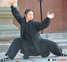 Wudang taoïste tai chi vêtements shaolin bouddhisme kung fu exercices formation moine costume arts martiaux vêtements robes costume 4 couleurs