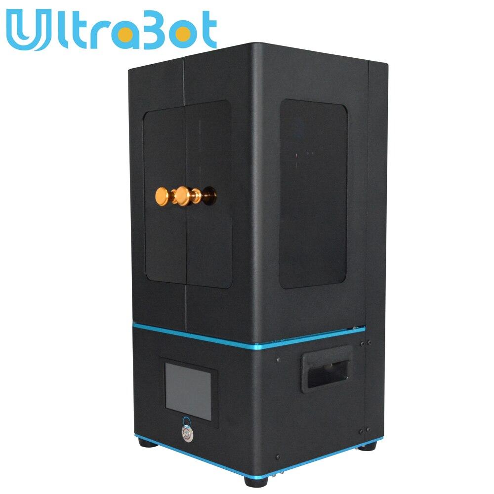 Ultrabot lcd 3d impressora rápida fatia 405nm matriz de luz uv duplo eixo z sla impressora 3d ultrabot atualizado módulo uv