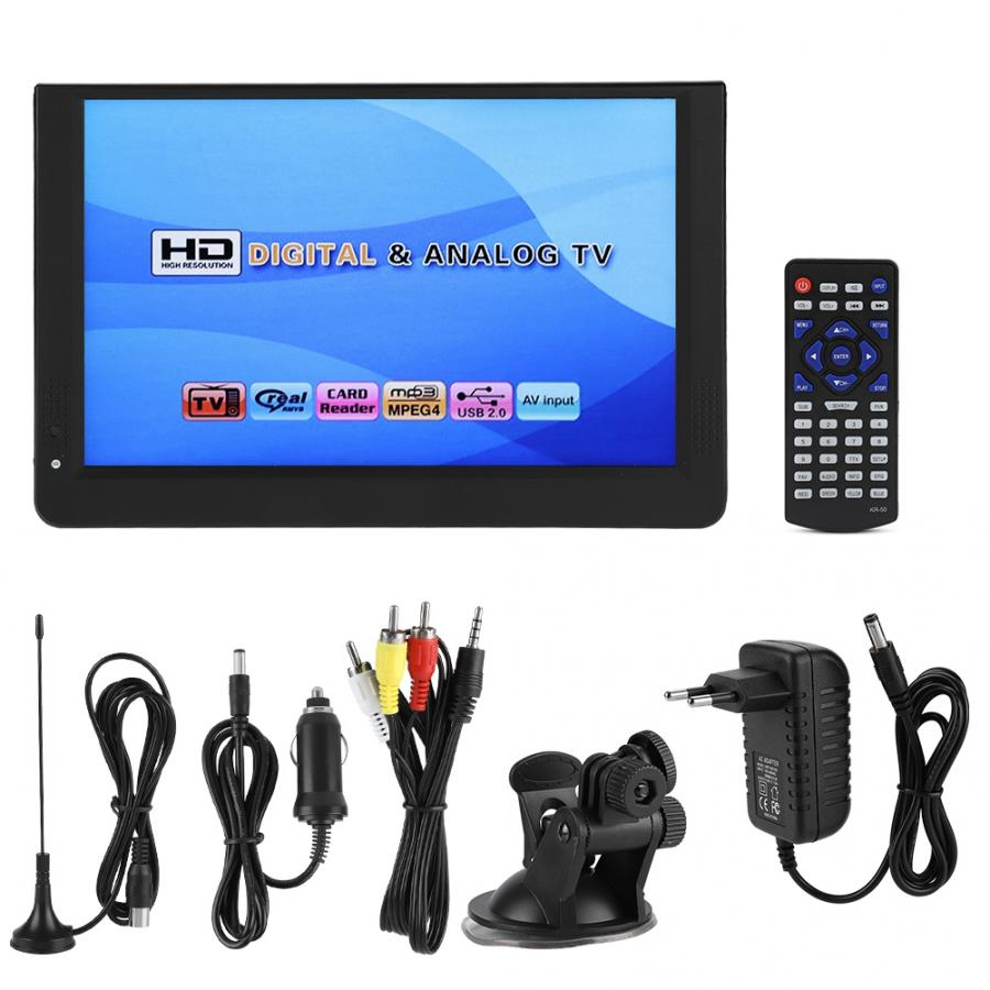 Televisión portátil LEADSTAR de 12 pulgadas DVB-T/T2 1280*800 1080P, soporte para el hogar, TV de coche 169 LED de mano, televisión Digital ATSC