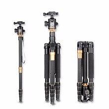 Trépied avec Q-02 tête fluide pivotante à 360 degrés pour Canon pour Pentax pour Sony pour appareil photo reflex numérique Olympus