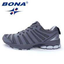 Bona novo estilo bassics homem tênis de corrida ao ar livre andando tênis rendas sapatos esportivos confortáveis sapatos esportivos para homem