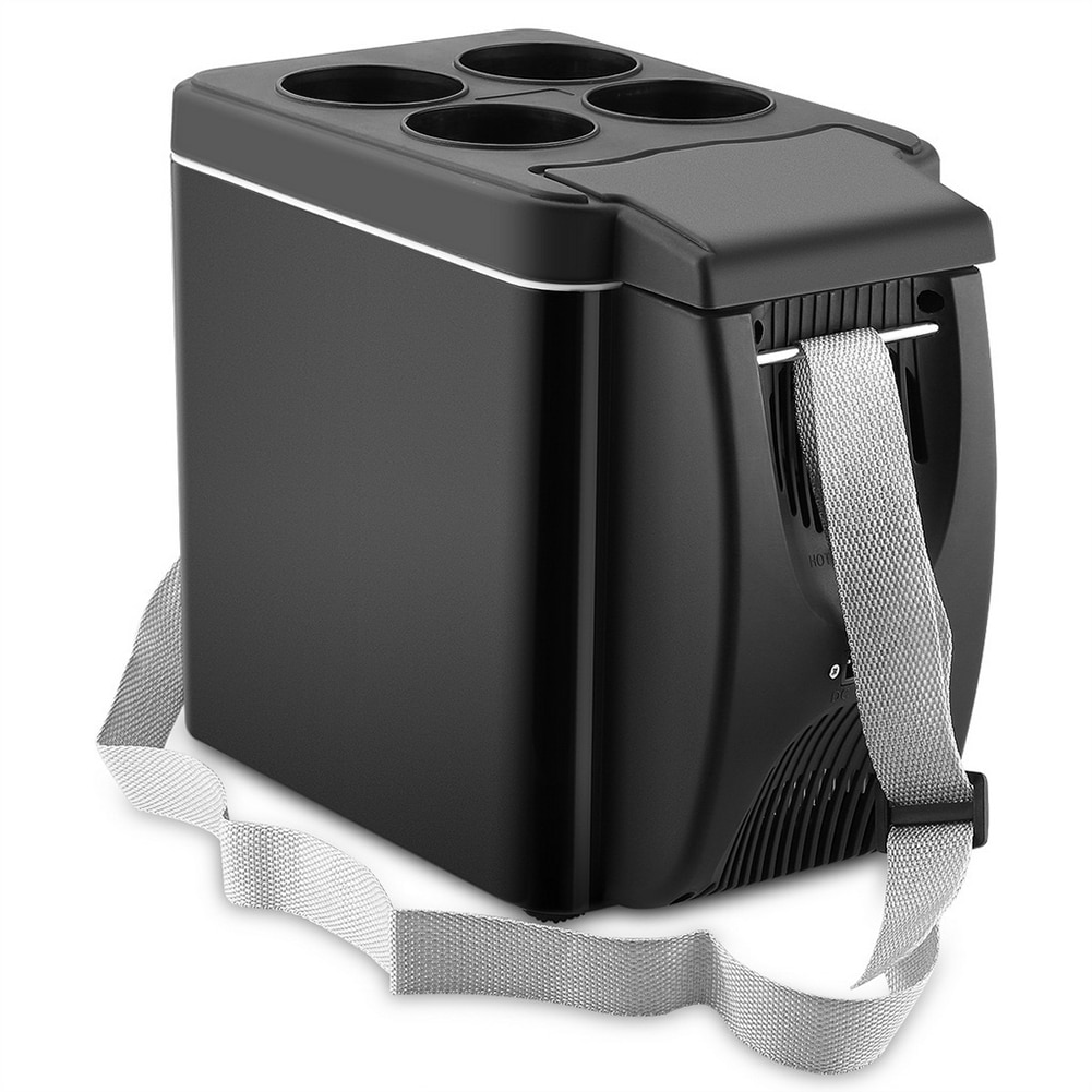 6L Mini Car Freezer Cooler 12V Refrigerator Freezer Heater Electric Fridge Portable Icebox Travel Refrigerator