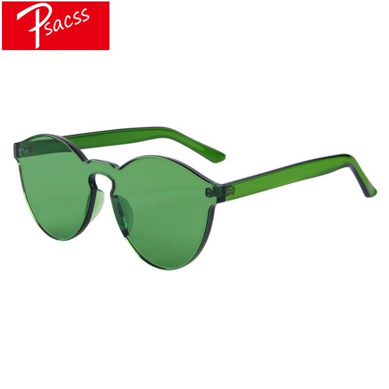 Psacss NEW Vintage Oval Sunglasses For Women Men Candy Colors Brand Designer Sun Glasses Women's Retro Mirror gafas de sol mujer