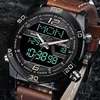 NAVIFORCE – montre de sport en cuir pour homme marque de luxe étanche à Quartz avec Date militaire