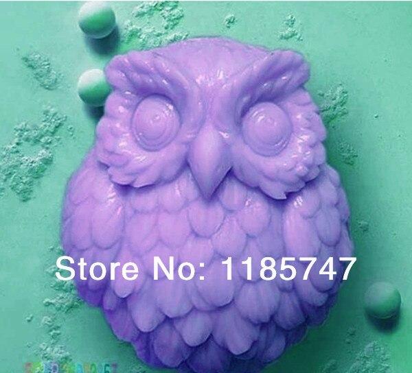 Great-Mold 3D búho jabón molde de calidad alimentaria silicona molde para la fabricación de jabón