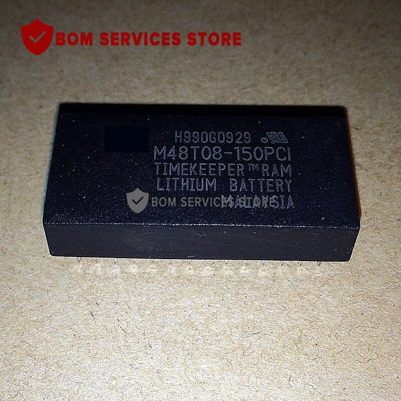 Entrega rápida de 5 piezas M48T08-150PC1 IC CMOS 8 K x 8 cronometrador SRAM DIP28