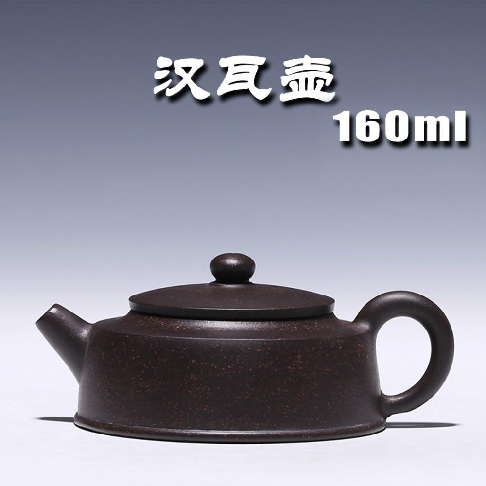 إبريق شاي Yixing أصلي خاص, إبريق شاي يدوي نقي أصلي من الطين الأسود Zhu